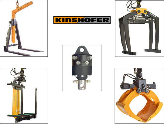 Kinshofer load handling equipment for truck cranes